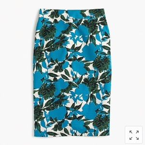 J Crew No. 2 Pencil Skirt In Vibrant Floral